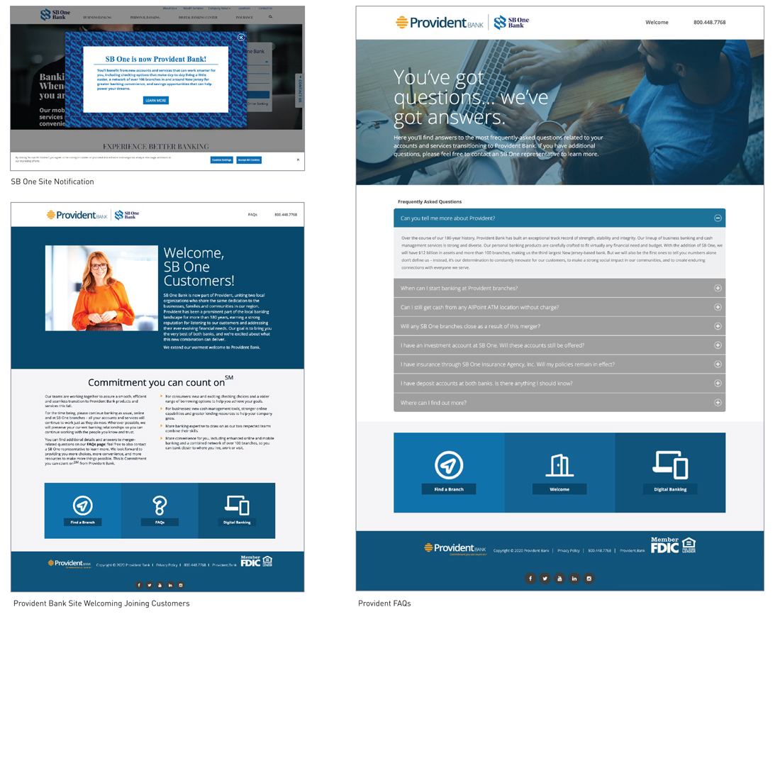 Provident/SB One Merger Conversion Microsite sample
